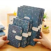 小清新筆記本子文具 創意復古文藝記事本 日韓國日記本手帳磁扣本