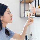 可旋轉充電LED對面化妝鏡吸附迷你便攜補光補妝小鏡子帶燈消費滿一千現折一百