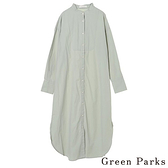 「Spring」長版圓領襯衫連身洋裝 - Green Parks