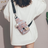 上新小包包女包新款2020網紅帆布斜背腰包ins日系軟妹學生側背包