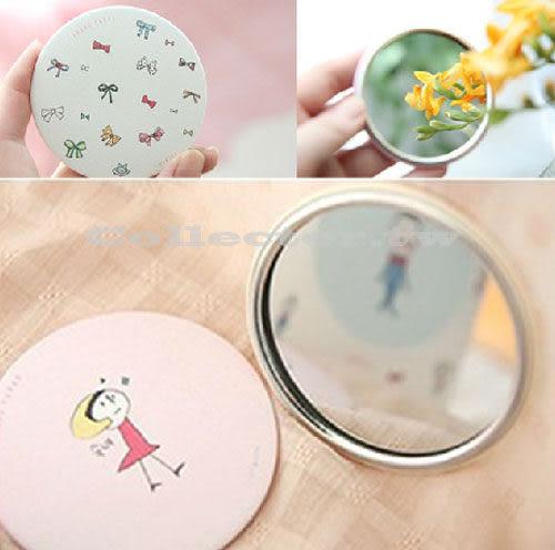 【超取199免運】韓國 甜美可愛小鏡子 手繪創意鏡 化妝鏡 隨身鏡