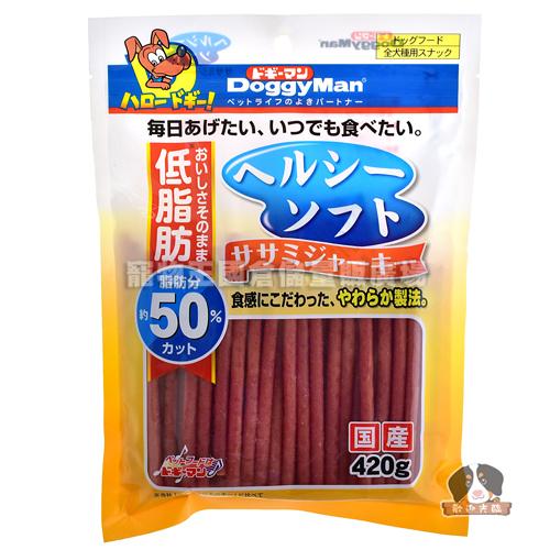 【寵物王國】日本DoggyMan-犬用健康低脂軟雞肉條420g