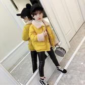 新款女童洋氣外套羽絨棉服女孩加厚