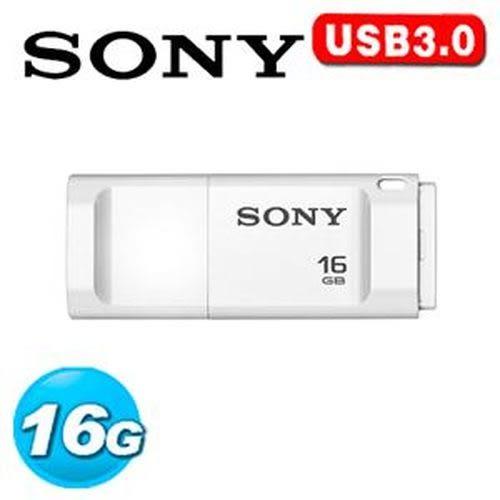SONY USM-X 繽紛 USB 3.0 16GB 隨身碟 白色