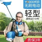 優動無刷充電式電動割草機草坪除草機打草機背負式園林家用剪草機 陽光好物