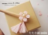 日系和風二次元少女小清新粉色櫻花髮簪髮飾桃木簪子手工