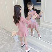 女童洋裝中大童韓版時尚洋氣童裝純棉長袖裙子 沸點奇跡