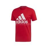 adidas 短袖T恤 MH BOS Tee 紅 白 男款 短T 運動休閒 【ACS】 FL3943