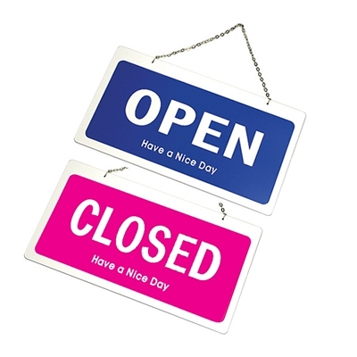 Artsign雅善7801 OPEN/CLOSED(藍+粉紅) 300x160mm 標示牌/指標/標語