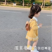 女童針織佯裝2020新款春裝中小童寶寶洋氣公主裙子學院風裙春秋 漾美眉韓衣