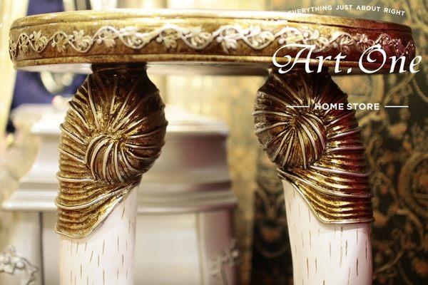 ART ONE 居家設計館 AW117013 象牙香檳銀羅馬柱
