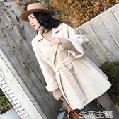 斗篷外套 雙面羊絨大衣女短款韓國秋冬新款流行加厚小個子斗篷毛呢外套 新年禮物