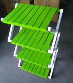【新北大】A26-5 雙色收疊式四層實木置物架/折疊桌/置物桌/鞋架/廚具架/收納架 /露營桌