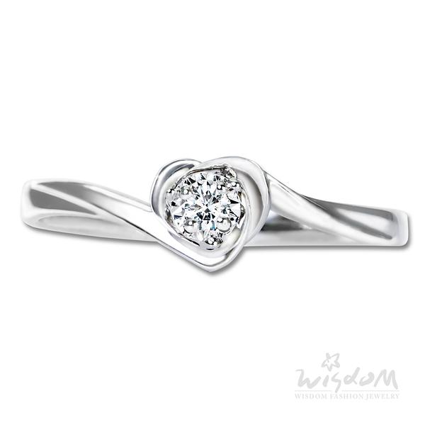 威世登 愛戀之心鑽石戒指-女戒 婚戒推薦 情人節禮物 DA03848-AFHXX