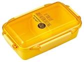 asdfkitty*日本製 OSK 樂扣型透明蓋便當盒-可微波-可機洗-黃色-500ML-保鮮盒/水果盒/收納盒