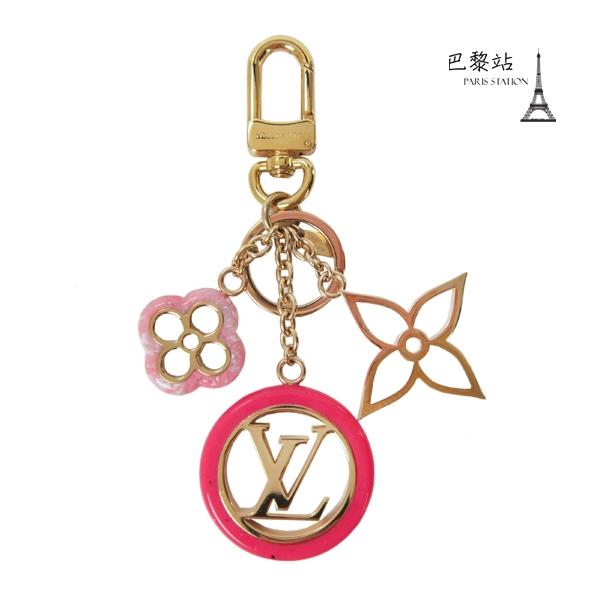 【巴黎站二手名牌專賣店】*現貨*LV 路易威登 真品*M64525 COLORLINE 手袋吊飾 鑰匙圈