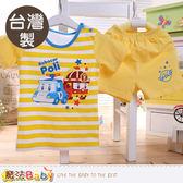 幼童短袖精梳純棉套裝 台灣製POLI波力正版 魔法Baby