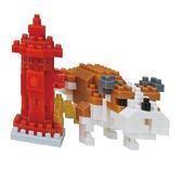 《 Nano Block 迷你積木 》【 可愛動物系列 】NBC-269 標記狗╭★ JOYBUS玩具百貨
