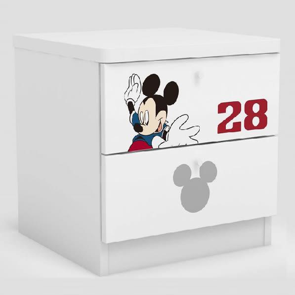 [首雅傢俬] 床頭櫃 床邊櫃 米奇 世界盃 迪士尼 斗櫃 收納櫃 矮櫃 功能櫃 兩抽櫃