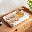 家用簡約多功能茶盤雙層可拆卸加深儲水托盤塑料瀝水茶具收納托盤 WD小時光生活館
