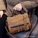 機車包 包包手提包女韓版時尚簡約百搭斜背包機車休閒軟皮單肩包