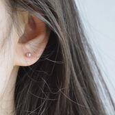 【全館】現折200純銀珍珠耳釘女氣質韓國個性簡約創意冷淡風耳飾耳環