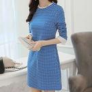 時尚新款優雅 修身顯瘦網紗拼接 連身短裙 D008a ◆ 韓妮小熊