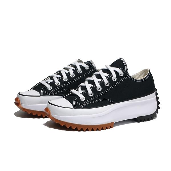 CONVERSE 帆布鞋 RUN STAR HIKE 穿搭 低筒 增高 膠底 黑 白 女 (布魯克林) 168816C