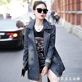 今年流行牛仔外套女2020年秋款新款韓版寬鬆中長款風衣百搭ins潮 聖誕節免運