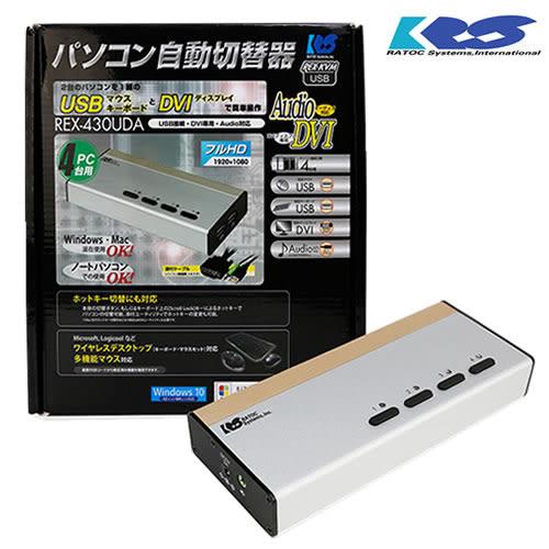 登昌恆 REX-430UDA 4-Port DVI USB電腦切換器
