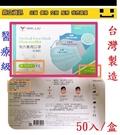 台灣製造 南六成人平面口罩 認證合格 醫...
