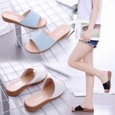 降價兩天 拖鞋女夏時尚2020新款韓版休閒平底防滑一字拖沙灘外穿女士涼拖鞋