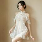 情趣內衣 情趣用品 情趣睡衣 仙氣睡裙女士套裝 女情趣內衣褲性感蕾絲吊帶長裙夏季透視誘惑