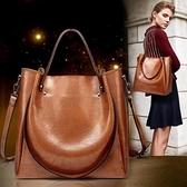 包包女2021新款潮斜挎包大容量女包手提包韓版時尚單肩包水桶包