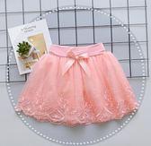 洋裝女童半身裙新品洋氣蓬蓬紗裙女孩公主蕾絲兒童百搭夏季短裙【俄羅斯世界杯狂歡節】