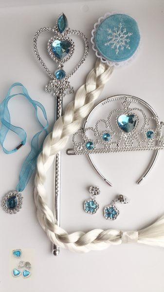 衣童趣 ♥冰雪奇緣公主配件組合 愛莎公主飾品 項練 耳環 戒子 三件組【現貨】