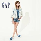 Gap女童時尚破洞五口袋牛仔短褲575165-中度水洗
