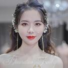 新年耳飾 日韓人工鋯石耳環無耳洞耳夾耳掛新娘結婚禮服耳飾婚紗禮服配飾【快速出貨八折鉅惠】