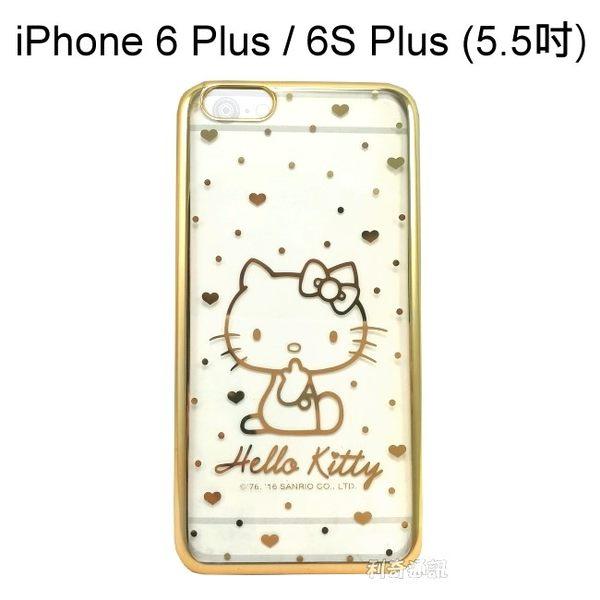 Hello Kitty 電鍍軟殼 [點點] 金 iPhone 6 Plus / 6S Plus (5.5吋)【三麗鷗正版授權】