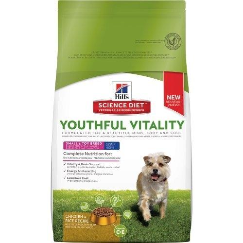 『寵喵樂旗艦店』希爾思《青春活力 雞肉與米配方-7歲以上小型及迷你成犬》3.5磅 狗飼料【10770】