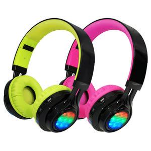 AB-005 全罩式LED炫光無線藍牙耳機麥克風(TF插卡/AUX)黑桃
