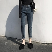 2021秋季新款潮老爹蘿卜牛仔長褲女高腰顯瘦顯高寬鬆直筒百搭加絨 米娜小鋪