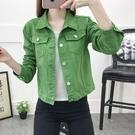 牛仔外套女短款牛仔外套女修身顯瘦韓版長袖...