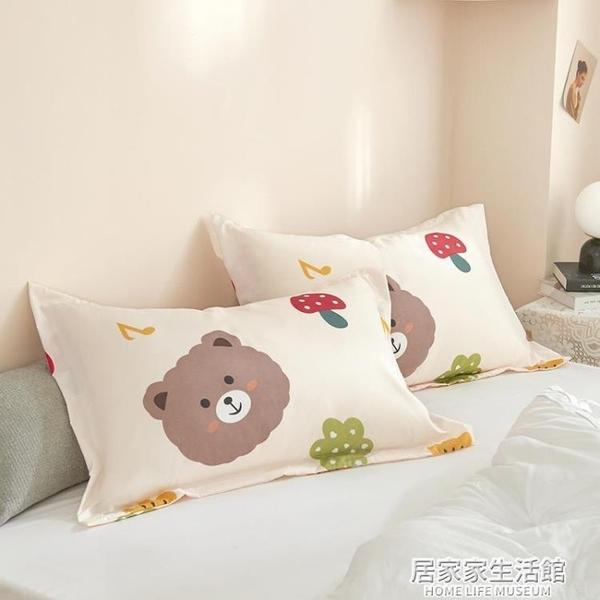 枕套枕頭套單只裝學生宿舍枕巾枕芯套夏季涼感家用48x74cm一對拍2 居家家生活館