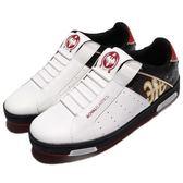 Royal Elastics 休閒鞋 Icon 白 紅 金 無鞋帶設計 皮革鞋面 男鞋【PUMP306】 02074091