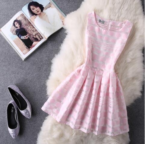 洋裝 韓 無袖收腰小香風 連身裙 小禮服 *27 小舖 *【現貨】