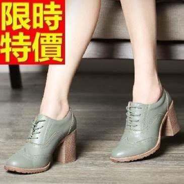 女牛津鞋-高跟騎士風率性粗跟真皮女皮鞋3色65y27【巴黎精品】