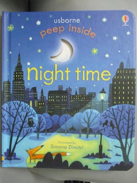 【書寶二手書T8/少年童書_A76】Peep Inside Night-Time_Anna Milbourne,Simona Dimitri