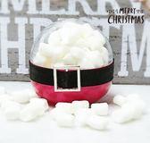 娃娃屋樂園~聖誕節糖果-聖誕老公公棉花糖扭蛋 每顆45元/婚禮小物/聖誕節禮物/耶誕節糖果