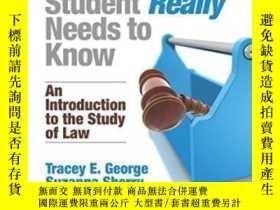 二手書博民逛書店What罕見Every Law Student Really Needs To KnowY256260 Tra